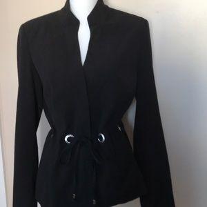 Chadwick's black blazer